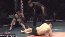 Nunca antes visto: pelea de MMA termina con doble nocaut