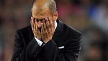 La frustración de Guardiola en la eliminación del Manchester City