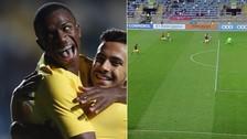 Vinicius Junior anotó dos golazos en el triunfo de Brasil Sub 17