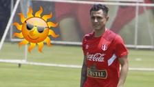 Yoshimar Yotún se sorprendió por el intenso calor en Lima