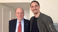 El mensaje de Zlatan Ibrahimovic tras conocer al Rey Juan Carlos