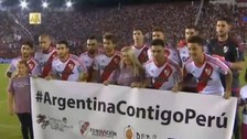 River Plate y Lanús enviaron mensajes de apoyo a damnificados en Perú