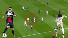Marco Verratti eludió a cuatro rivales en una increíble jugada