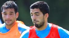Uruguay con Luis Suárez entrenó pensando en la Selección Peruana