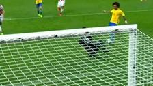 Marcelo anotó un golazo de lujo para sellar la victoria de Brasil