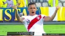 Yoshimar Yotún y su eufórica celebración al final del Perú - Uruguay