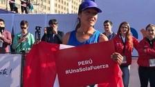 Inés Melchor ganó la Maratón de Santiago de Chile y lo dedicó a los damnificados