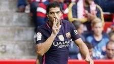 Luis Suárez anotó un golazo de sombrerito ante 'Memo' Ochoa