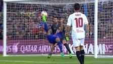 Jugadón de Messi y sangre fría de Suárez para anotar de chalaca