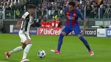 Neymar quedó mano a mano con Dani Alves y lo humilló con esta gran 'huacha'
