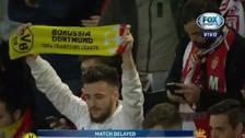El emotivo apoyo de los hinchas del Mónaco tras el accidente que tuvo el Dortmund