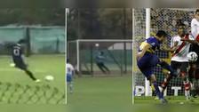 Hijo de Riquelme marcó golazo de tiro libre con Boca Juniors