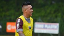 Christian Cueva se recuperó de su lesión y volvió a entrenar con Sao Paulo