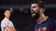 La reacción de Piqué tras los polémicos goles de Cristiano Ronaldo