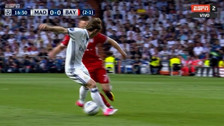 Franck Ribery se lució con huacha a Modric en Champions League