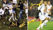 El día que Neymar y Luis Aguiar se pelearon en la Copa Libertadores