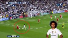 Marcelo dejó en el piso a Robben con una genial jugada