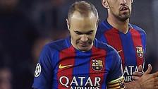 La decepción de Andrés Iniesta tras eliminación en Champions