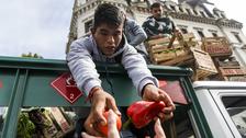 Agricultores regalaron 20 mil kilos de verdura a modo de protesta en Argentina