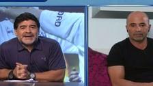 Maradona desmerece candidatura de Jorge Sampaoli con polémica declaración