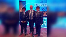 Edwin Oviedo se reunió con Infantino en Congreso de Conmebol