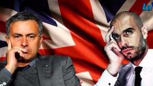 Así fue el encuentro entre Guardiola y Mourinho en el clásico de Manchester