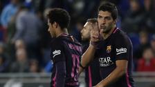 Luis Suárez anotó ante Espanyol tras increíble blooper