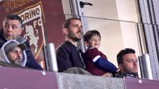 Bonucci de la Juventus llevó al estadio a su hijo hincha del Torino