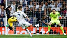 El furibundo disparo de Cristiano Ronaldo que venció la portería del Atlético