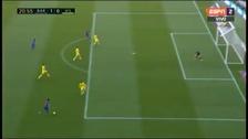 Triangulación de la MSN que finalizó en el gol de Neymar ante Villarreal