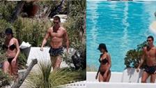 Cristiano Ronaldo se lució con su novia en exclusiva zona de Ibiza