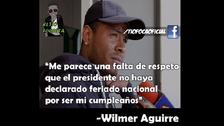 Los divertidos memes que dejó el cumpleaños de Wilmer Aguirre