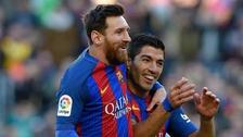 Lionel Messi y Luis Suárez aparecieron con nuevo look en Barcelona
