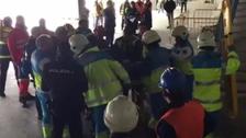 Obrero peruano sufrió accidente en obras del Wanda Metropolitano
