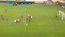 Diego Manicero anotó un golazo con un disparo desde fuera del área