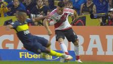 Boca - River: Frank Fabra realizó brutal entrada sobre Jorge Moreira