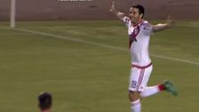 Camilo Mayada anotó el segundo gol de River tras rebote de arquero Álvarez