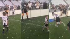 El gran gesto de Buffon con los hijos de sus compañeros en plena celebración