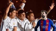 ¿Qué jugador del Real Madrid insultó a Gerard Piqué en los festejos?