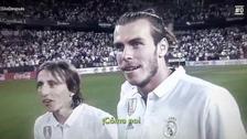 Bale y Modric fueron sorprendidos tras no recibir el trofeo de la Liga Española