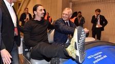 Ibrahimovic acudió a la final de la Europa League de una curiosa manera