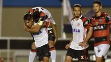 Paolo Guerrero rompió el arco de Goianiense  y anotó en Copa de Brasil