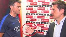 Luis Enrique negó saludo a periodista antes de la final de la Copa del Rey