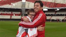 Marcelo Gallardo cumplió sueño a niño con Síndrome de Down