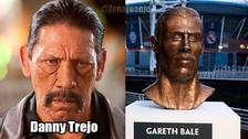 Gareth Bale es víctima de memes por su extraña estatua