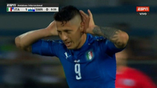 Gianluca Lapadula anotó un 'hat-trick' con Italia ante San Marino