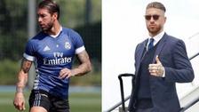 Sergio Ramos cambió de look para la final de la Champions League