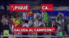 Los hinchas del Real Madrid se acordaron de Piqué en los festejos