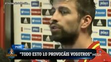 YouTube | Piqué arremetió contra periodistas tras empate ante Colombia