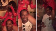 La alocada fiesta que tuvo Ronaldinho tras llegar a Miami
